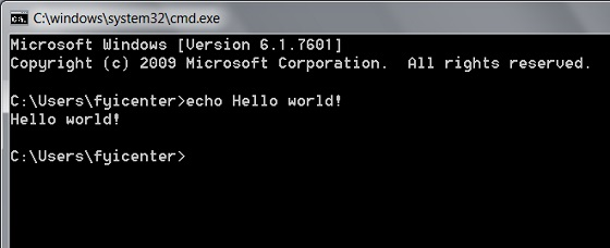 Command Line Prompt Window
