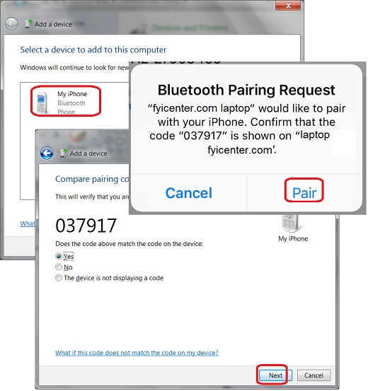 Bluetooth Connection from Windows 7 to iPhone