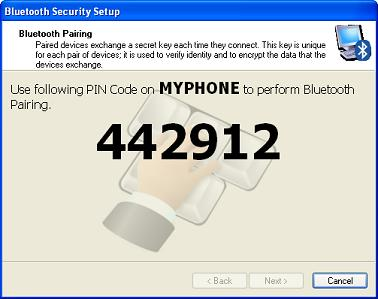 Bluetooth Security Setup - System PIN Code