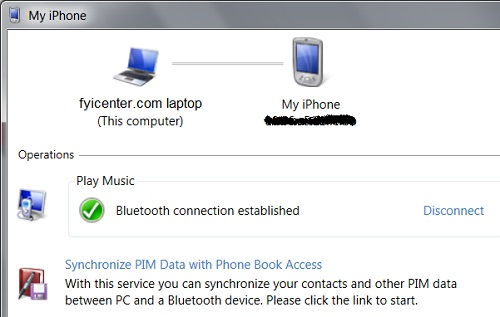 Verify Bluetooth Connection with iPhone