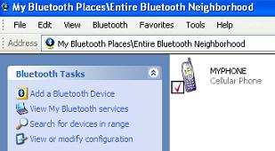 Bluetooth Security Setup - Device Connected