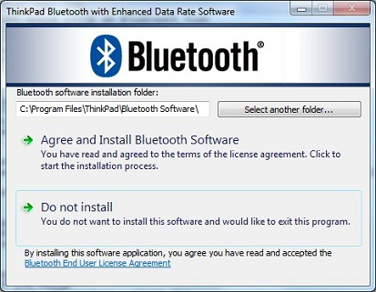ThinkPad Bluetooth Driver Installation