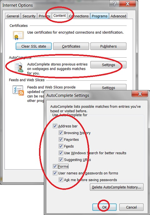 Turn On AutoComplete Feature in IE 11