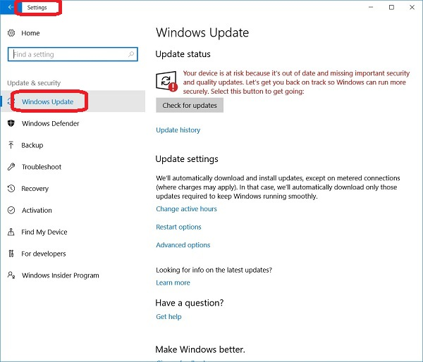 Windows 10 - Windows Update