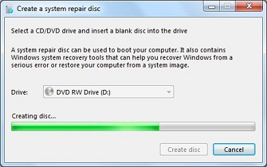 Creating System Repair Disc