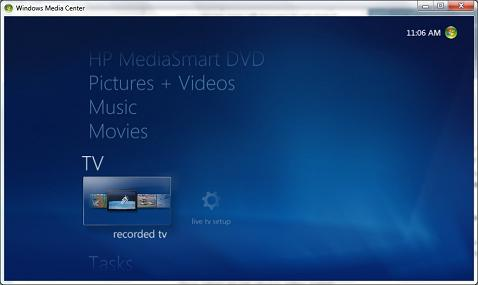 Windows Media Center - TV