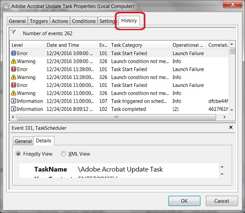 Windows 8 - History of Scheduled Task
