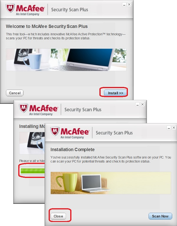 Install McAfee Security Scan Plus
