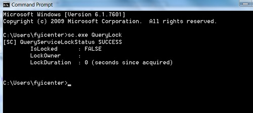 Windows 8 sc.exe - Service Controller Command Line Tool