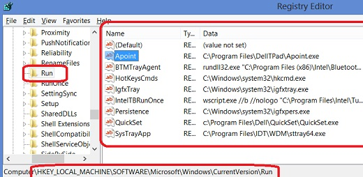 Startup Windows 8 - Registry Keys for Startup Programs on Windows 8