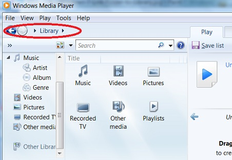 Player Libraries in Windows Media Player 12