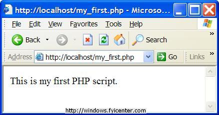 IIS First PHP Script